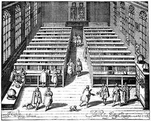 This print depicting Leiden University Library in 1610 is rather well known as a representation of an early modern scholarly library at work. The cabinet on the right is for Scaliger's Oriental acquisitions (and reads so in better and larger reproductions of the print), displayed separately with a sense of institutional pride for housing such rare and exotic books.