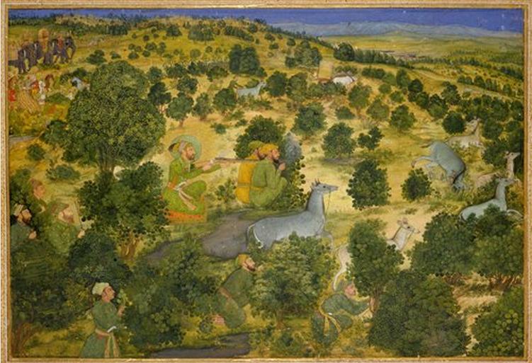 Aurangzeb hunting nilgai
