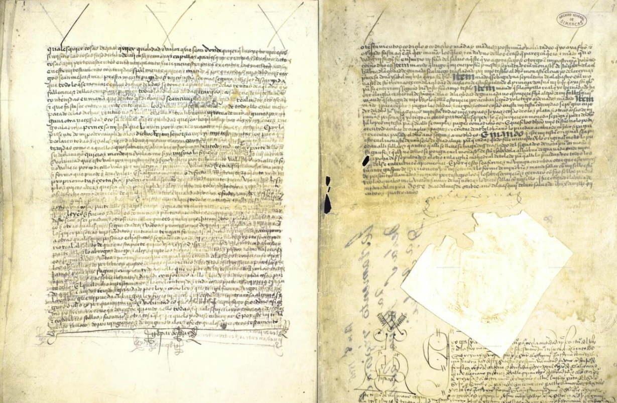 Last Will and Testament of Queen Isabella, from the Simancas Archive