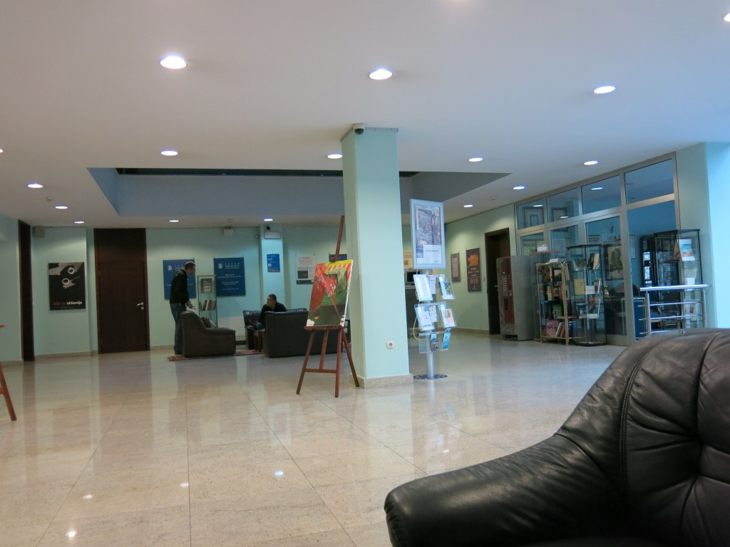 The lobby of the Bosniak Institute