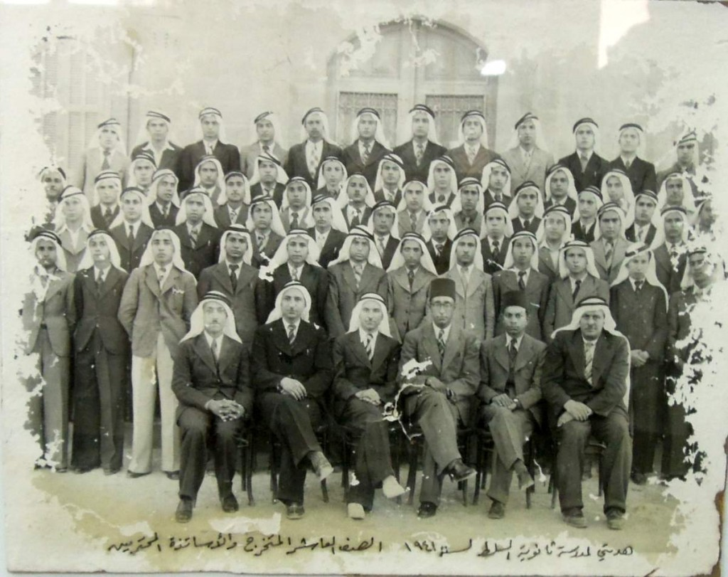 One of the graduating classes of the boys secondary school in Salt