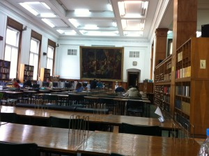 The reading room of the library