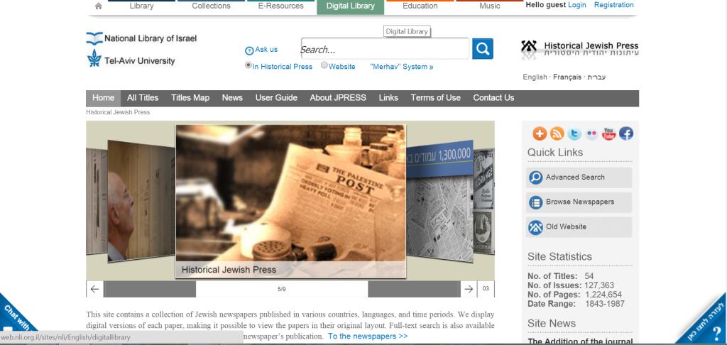 Historical Jewish Press Website